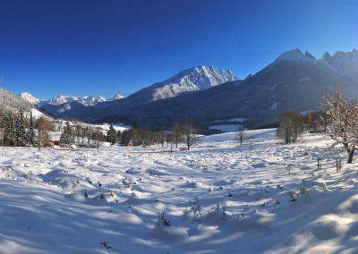 Winterspaziergang auf dem König-Max-Weg im Berchtesgadener Land